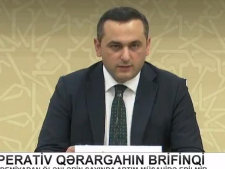 Оперативный штаб при Кабмине Азербайджана проводит брифинг - LİVE