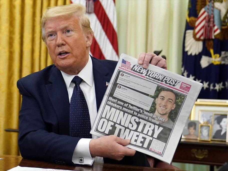 Трамп против Twitter: президент США намерен положить конец гегемонии соцсетей – ФОТО – ВИДЕО