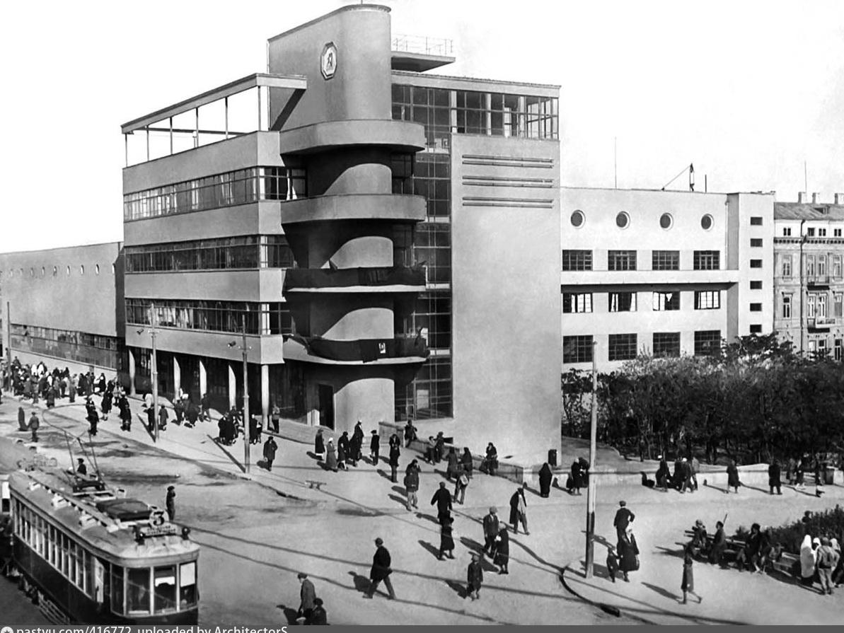 Символ конструктивизма в центре Баку – великолепное здание «Азернешра» - ФОТО
