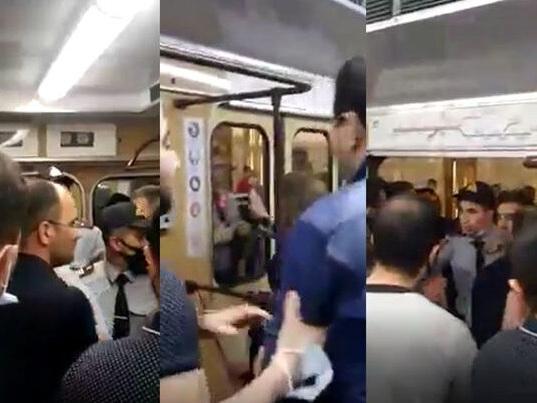 МВД о потасовке граждан с полицией в метро – ВИДЕО