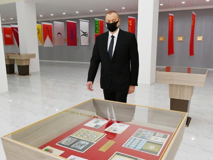 Президент Ильхам Алиев принял участие в открытии Музея государственных символов в Тертере - ФОТО