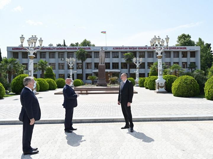 Поездка Президента Ильхама Алиева в Агджабединский район - ФОТО