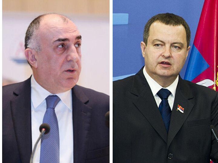 Главы МИД Азербайджана и Сербии подчеркнули важность взаимной поддержки в борьбе с коронавирусом