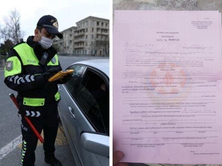 В Баку ошибочно был выписан штраф гражданину, получившему разрешение через приложение «E-Təbib» - ФОТО