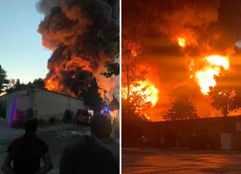 Пожар на лакокрасочном заводе Баку полностью потушен – ФОТО – ВИДЕО – ОБНОВЛЕНО