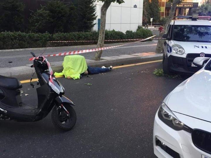 В Баку погиб курьер-мотоциклист – ФОТО