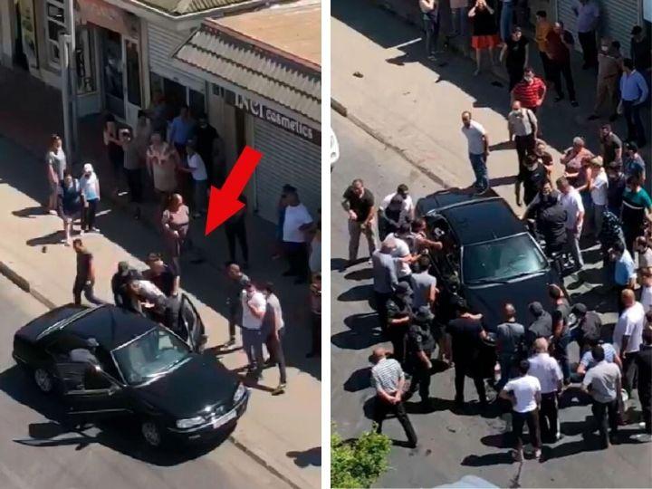 В Баку граждане спровоцировали конфликт с полицией – ВИДЕО