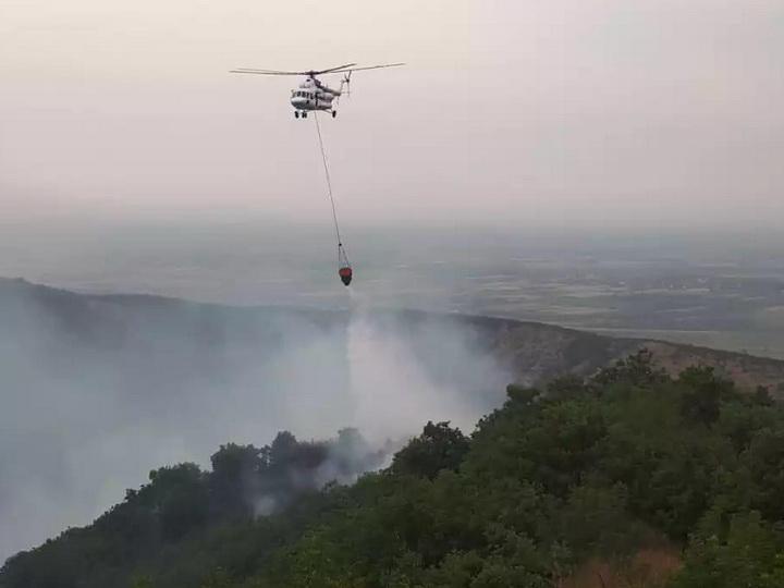 На территории Шахдагского национального парка произошел пожар