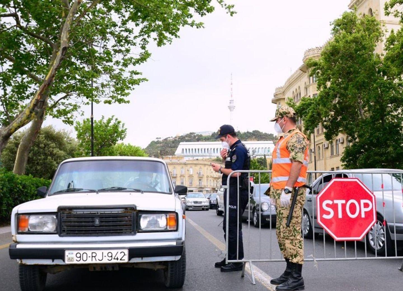 Дорожная полиция: В Баку увеличено число карантинных постов