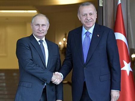 Путин провел телефонный разговор с Эрдоганом