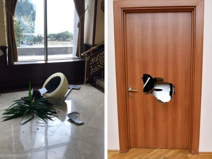 Стала известна сумма ущерба, нанесенного зданию Милли Меджлиса прошлой ночью - ФОТО