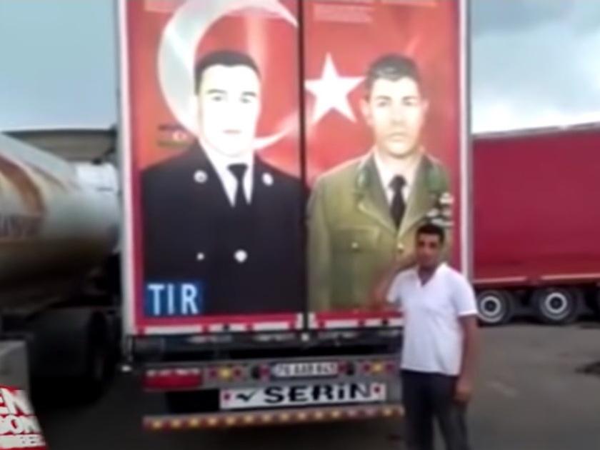 Водитель-турок дал отпор грузинской полиции, пытавшейся снять фотографию Мубариза Ибрагимова с грузовика – ВИДЕО