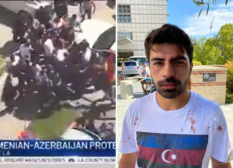Провокация в Лос-Анджелесе: тысячи агрессивно настроенных армян напали на азербайджанцев, есть пострадавшие - ФОТО - ВИДЕО