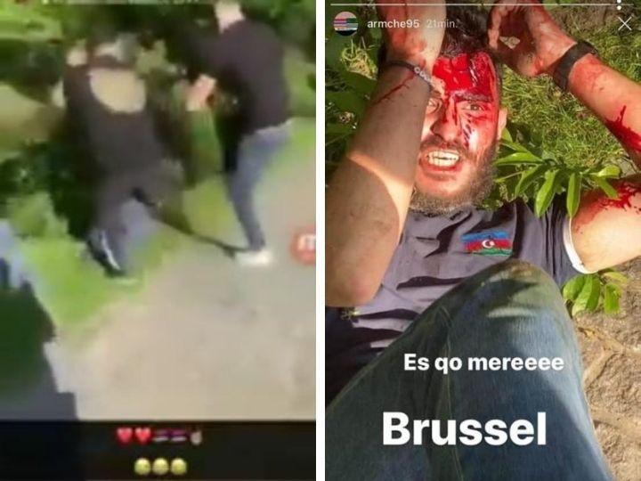 Qayıdış nöqtəsi! Brüsseldə bir qrup təcavüzkar erməni azərbaycanlı gənci vəhşicəsinə döyüblər – FOTO – VİDEO