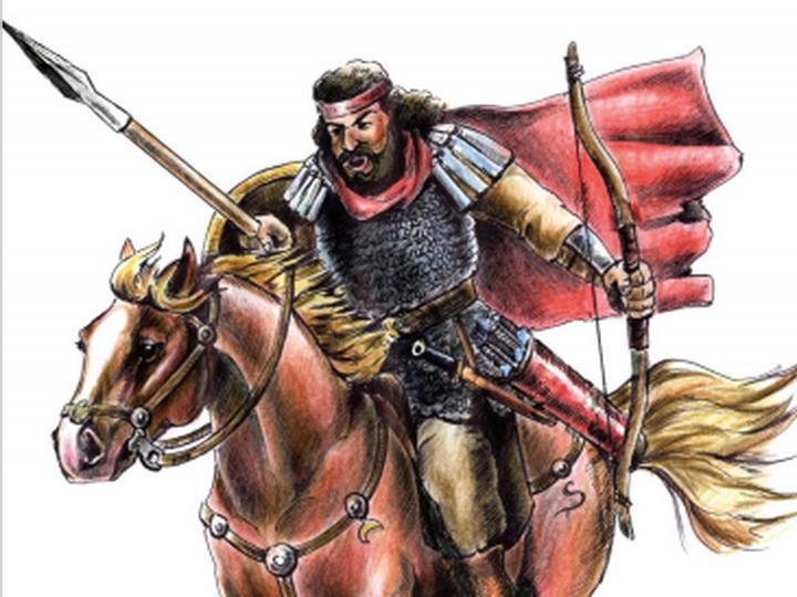 Сарматский воин войска Кавказской Албании