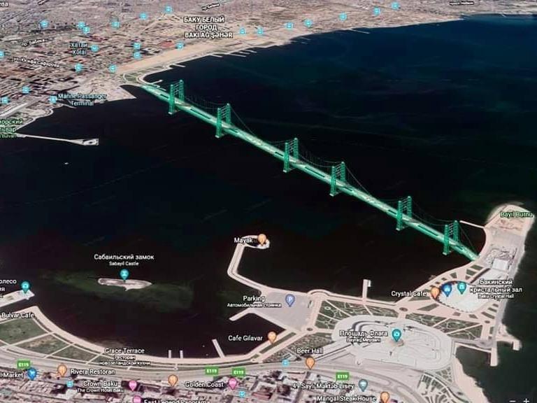 Новый проект моста через Бакинскую бухту: Панацея от пробок? – ФОТО