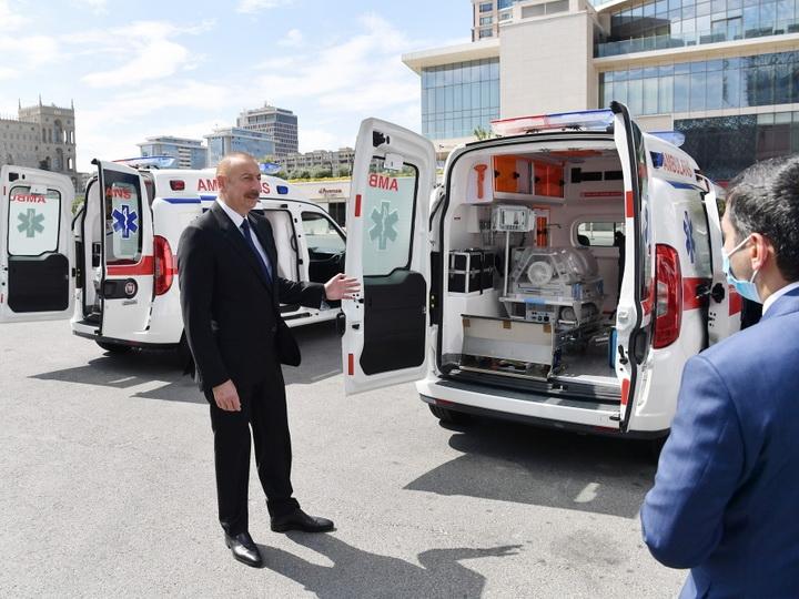 В Азербайджан доставлены новые автомобили скорой медицинской помощи – ФОТО