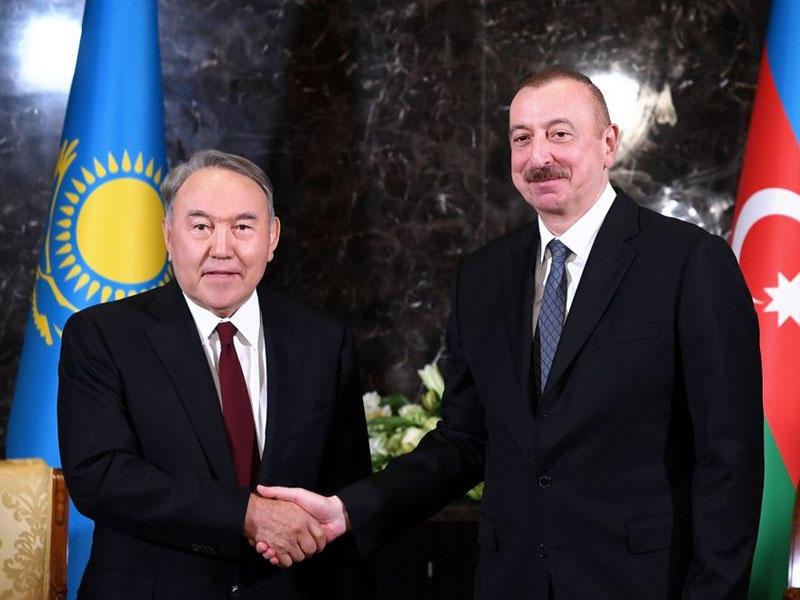 Prezident İlham Əliyev Nursultan Nazarbayevə zəng etdi
