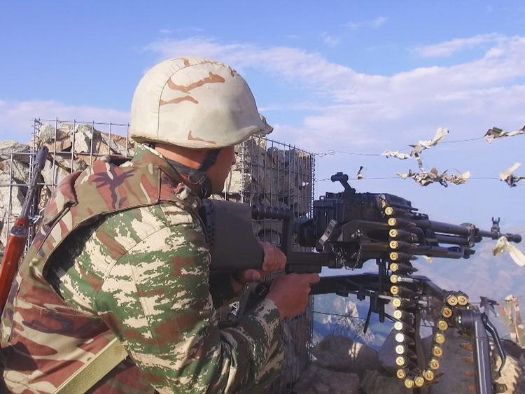 ВС Армении вновь нарушили режим прекращения огня, обстреляв азербайджанские позиции из крупнокалиберных пулеметов