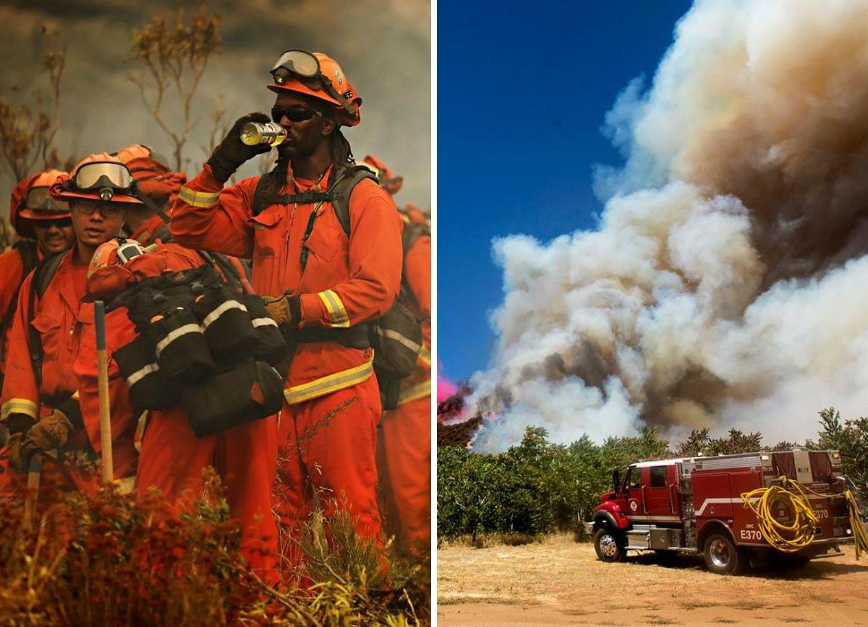 Из-за лесного пожара в Калифорнии эвакуировано около 8 тыс. жителей – ФОТО