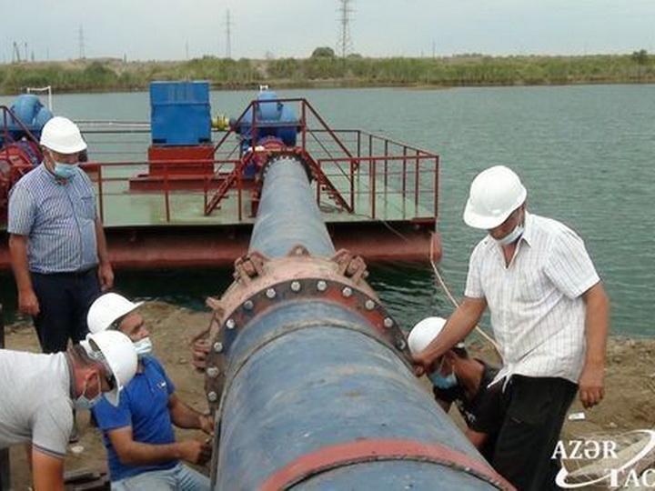Начата перекачка воды из имишлинских озер в канал Баш Муган - ФОТО