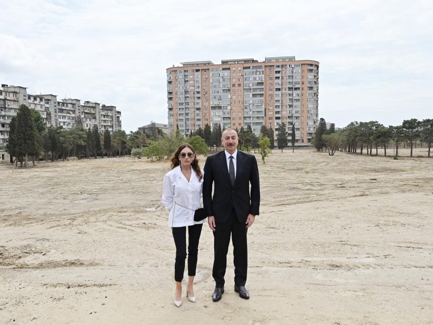 Президент Ильхам Алиев ознакомился с работами, которые будут осуществлены в лесном парке в Баку - ФОТО