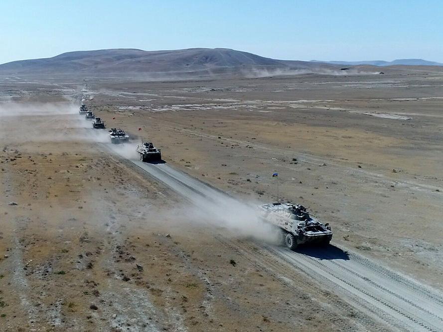 Выполнен очередной этап азербайджано-турецких совместных широкомасштабных тактических учений - ФОТО - ВИДЕО