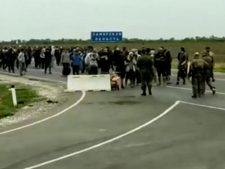 На границе России и Казахстана произошли стычки с участием мигрантов
