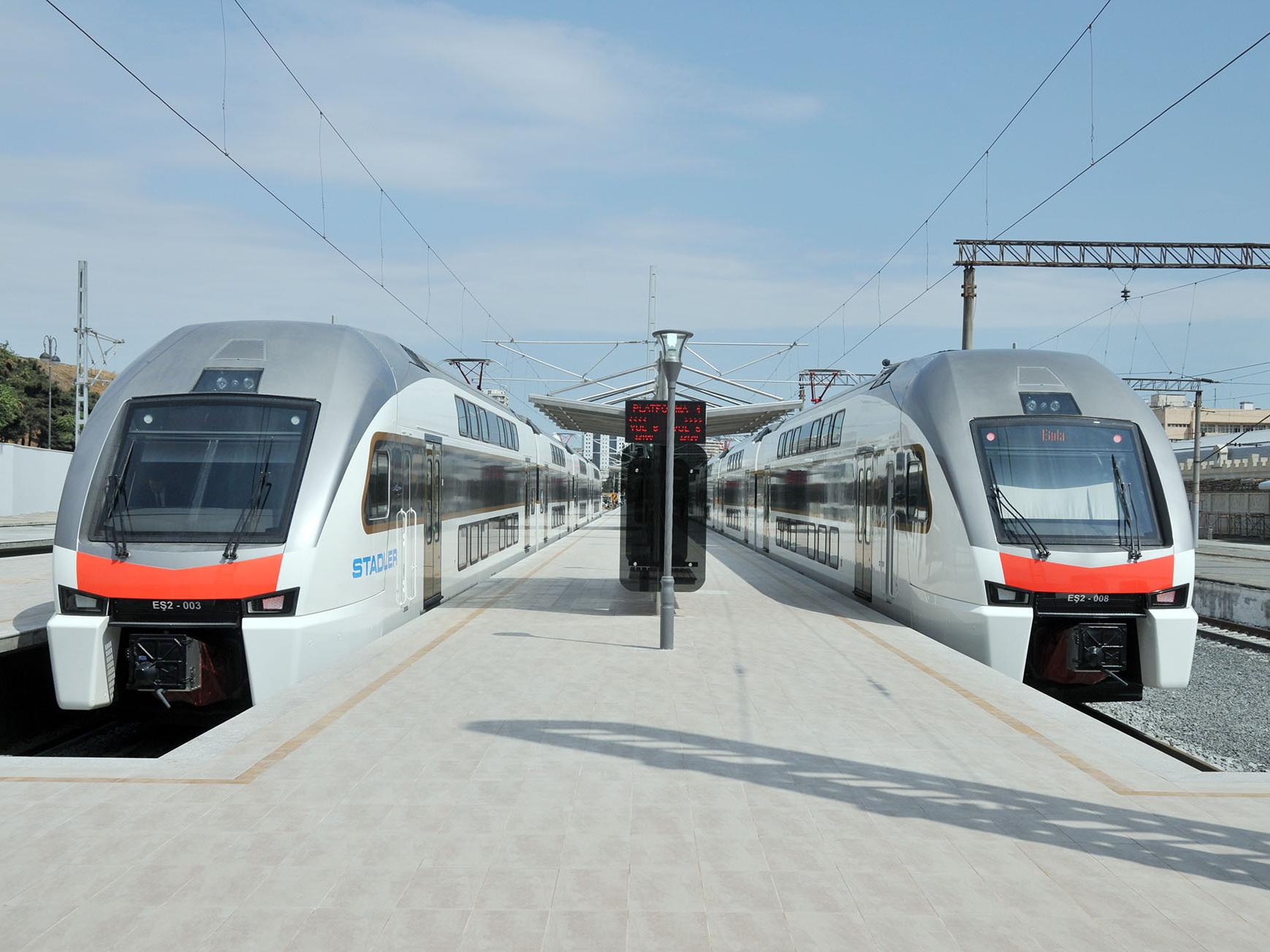 Электрички Баку-Хырдалан-Сумгайыт приостановят движение на несколько месяцев