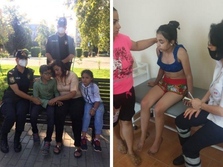 Сотрудники полиции спасли двух детей и одну женщину - ФОТО