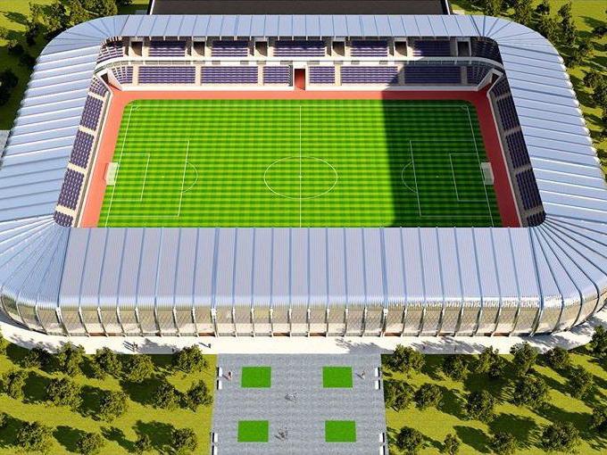 В Сумгайыте возводят красивейший футбольный стадион с уникальным фонтанным комплексом – ФОТО