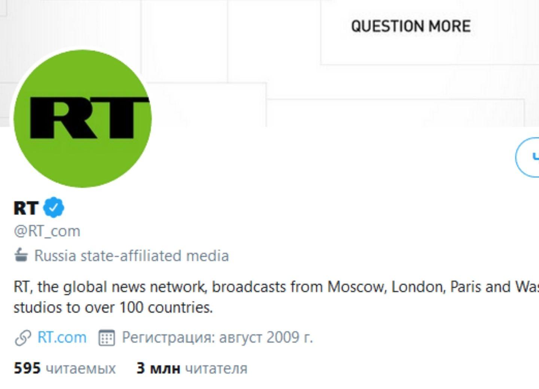 Twitter начал маркировать аккаунты прогосударственных СМИ и журналистов