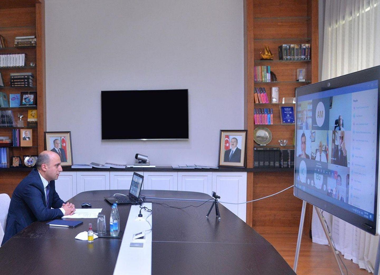 Министр образования провел видеовстречу с руководителями вузов - ФОТО
