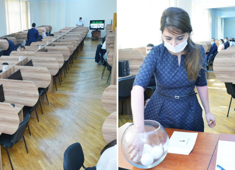 Проведен письменный экзамен для кандидатов в судьи - ФОТО