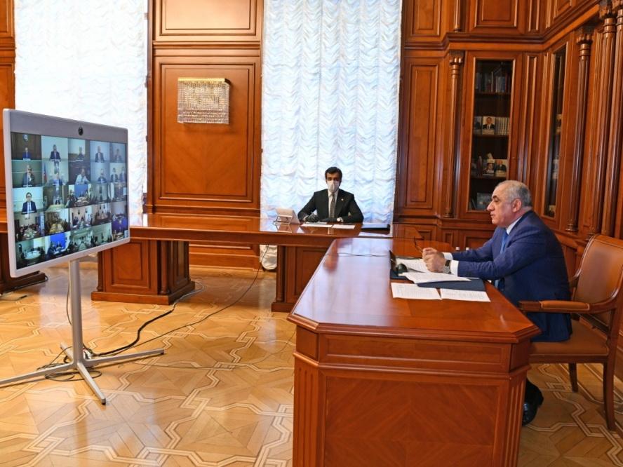 Состоялось видеосовещание по республике Оперативного штаба при Кабинете Министров в связи с карантинным режимом - ФОТО