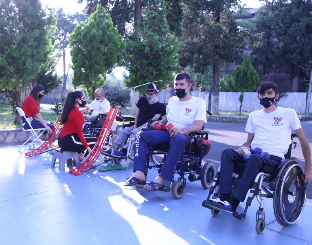 Azərbaycan Boccia İdman Federasiyasının idmançıları təlim-məşq toplantısında iştirak edirlər - FOTO