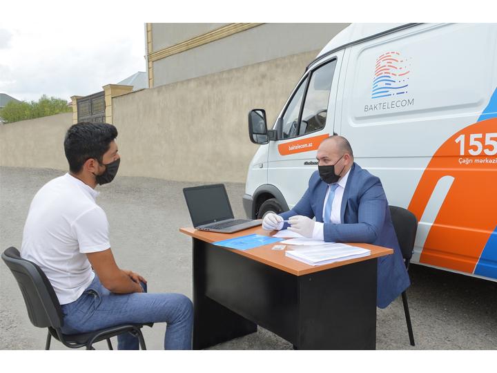 Baktelecom оказал выездные услуги жителям поселка Баладжары – ФОТО