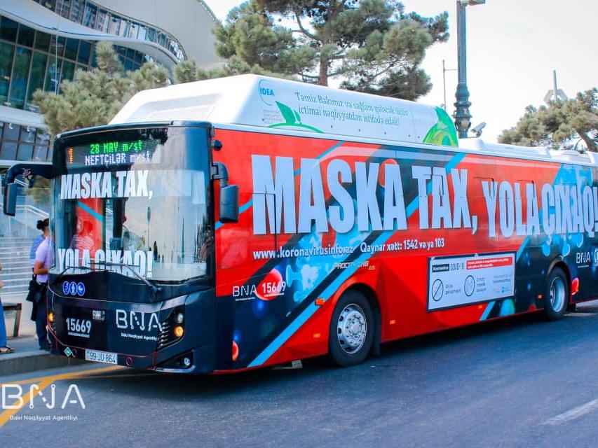 «Maska tax, yola çixaq!» Бакинское транспортное агентство призывает пассажиров соблюдать правила – ФОТО