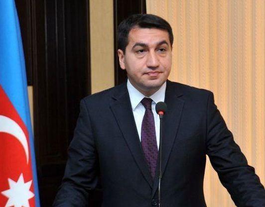 Hikmət Hacıyev: Ermənistanın Milli Təhlükəsizlik Strategiyası sanki saxta tarix dərsliyidir