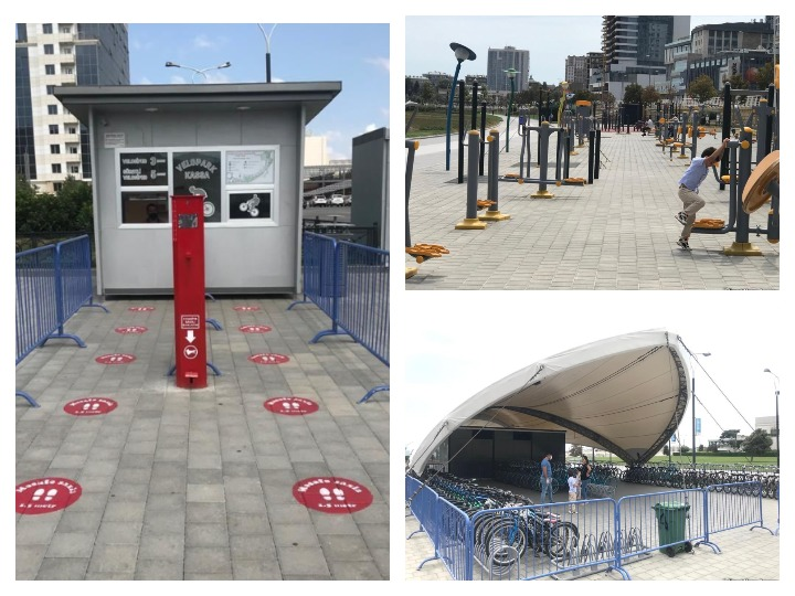 Спортивные тренажеры и велопарк на бульваре находятся под особым контролем – ФОТО