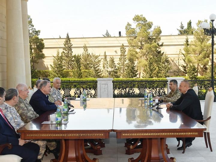 Президент Ильхам Алиев: Военные учения – очередное проявление турецко-азербайджанского единства, братства - ФОТО