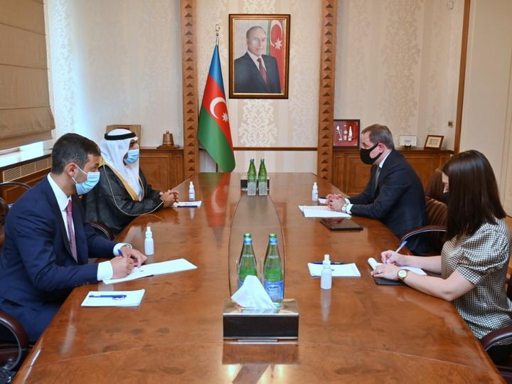 Джейхун Байрамов принял посла ОАЭ в Азербайджане - ФОТО