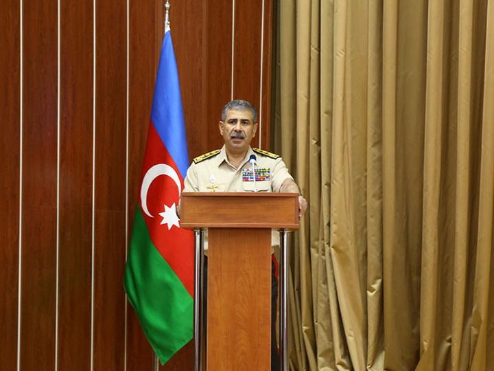 Министр обороны: «Азербайджанская армия готова выполнить свой священный долг по освобождению своих земель» - ФОТО