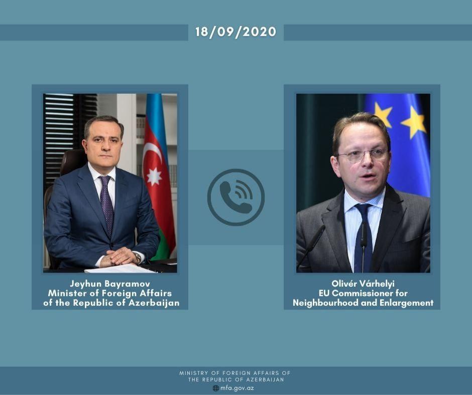 Глава МИД Азербайджана и еврокомиссар обсудили расширение ЮГК