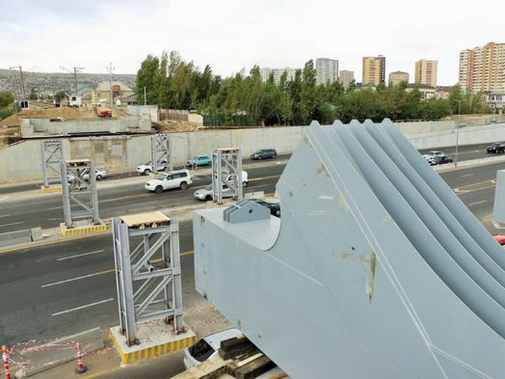 В Баку строят новый мост - ФОТО