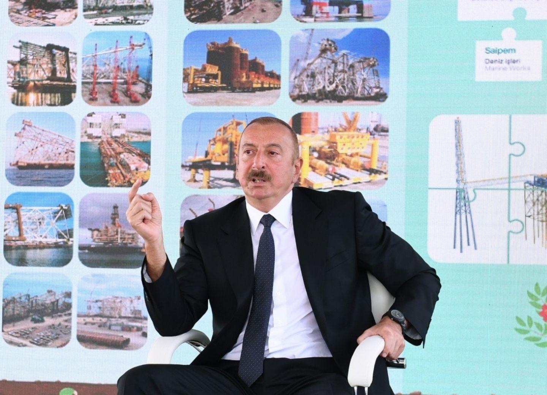 Президент Ильхам Алиев: Труд наших нефтяников служит интересам азербайджанского народа