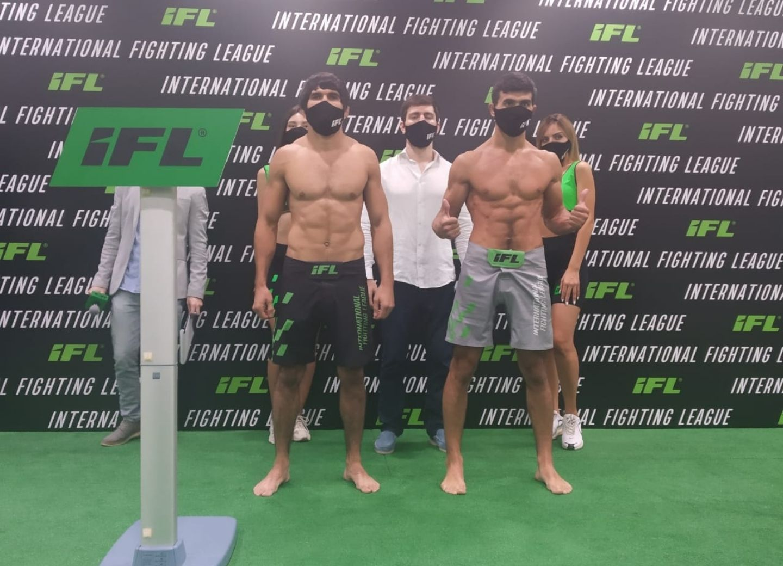 Будет жарко! Хазар Рустамов и Рамин Султанов едва не подрались на церемонии взвешивания первого турнира IFL по ММА
