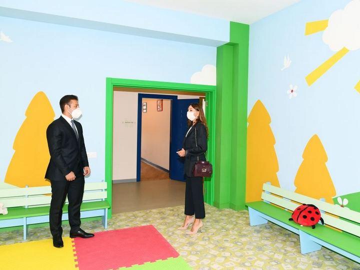 Birinci vitse-prezident Şağanda yeni uşaq bağçasının açılışında iştirak edib - FOTO