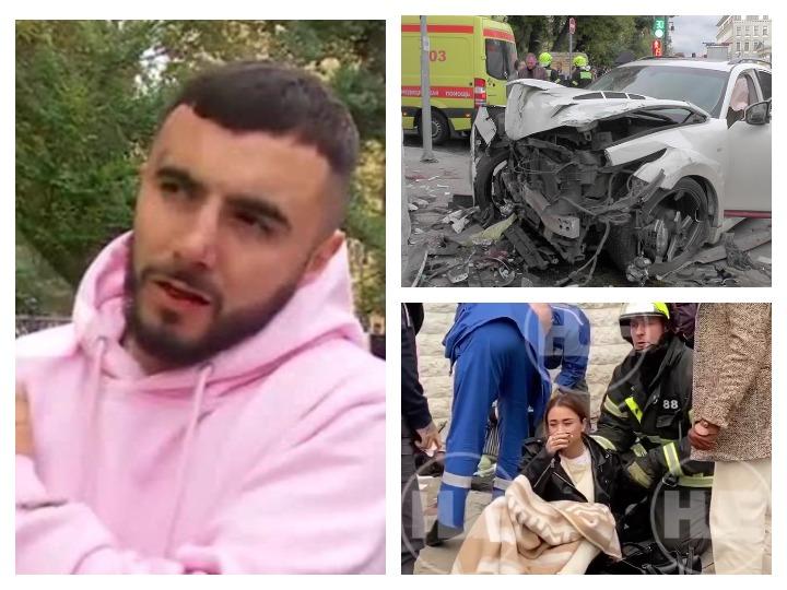 Рэпер Эльмин Гулиев устроил жуткое ДТП в Москве, одной из пострадавших ампутировали часть ноги - ФОТО - ВИДЕО