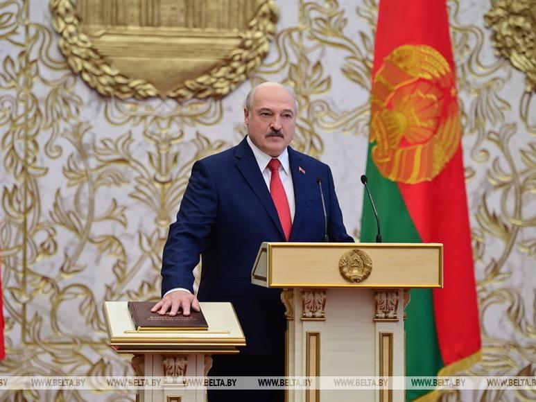 Лукашенко вступил в должность президента Беларуси - ФОТО